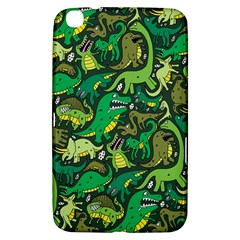 Dino Pattern Cartoons Samsung Galaxy Tab 3 (8 ) T3100 Hardshell Case  by AnjaniArt