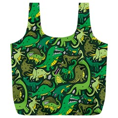 Dino Pattern Cartoons Full Print Recycle Bags (l)