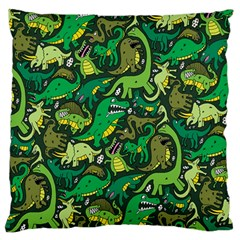 Dino Pattern Cartoons Large Flano Cushion Case (one Side)