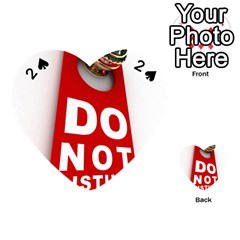 Do Not Disturb Playing Cards 54 (heart)