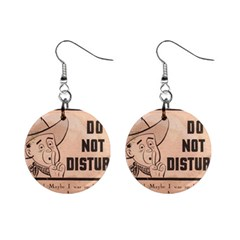 Do Not Disturb I Want To Sleep Thanks Mini Button Earrings