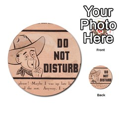 Do Not Disturb I Want To Sleep Thanks Multi Purpose Cards (round)  by AnjaniArt