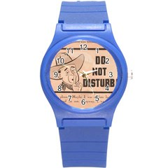 Do Not Disturb I Want To Sleep Thanks Round Plastic Sport Watch (s)