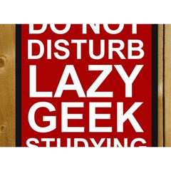 Do Not Disturb Lazy Geek Studying Glass Framed Poster Birthday Cake 3d Greeting Card (7x5) by AnjaniArt