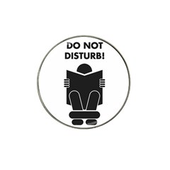 Do Not Disturb Sign Board Hat Clip Ball Marker (4 Pack) by AnjaniArt