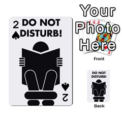 Do Not Disturb Sign Board Playing Cards 54 Designs