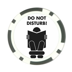 Do Not Disturb Sign Board Poker Chip Card Guards (10 Pack)  by AnjaniArt