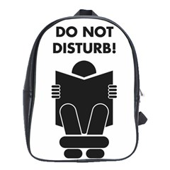 Do Not Disturb Sign Board School Bags(large)  by AnjaniArt