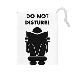 Do Not Disturb Sign Board Drawstring Pouches (large)  by AnjaniArt