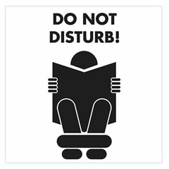 Do Not Disturb Sign Board Large Satin Scarf (square)