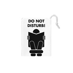 Do Not Disturb Sign Board Drawstring Pouches (xs)  by AnjaniArt