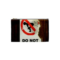 Do Not Disturb Sign Please Go Away I Don T Care Cosmetic Bag (small)  by AnjaniArt