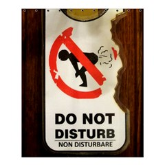 Do Not Disturb Sign Please Go Away I Don T Care Shower Curtain 60  X 72  (medium)  by AnjaniArt