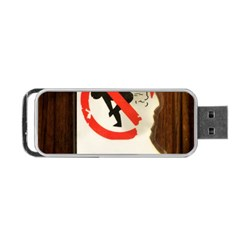 Do Not Disturb Sign Please Go Away I Don T Care Portable Usb Flash (two Sides) by AnjaniArt