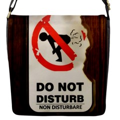 Do Not Disturb Sign Please Go Away I Don T Care Flap Messenger Bag (s)