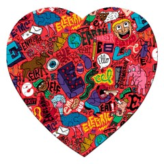 E Pattern Cartoons Jigsaw Puzzle (heart) by AnjaniArt