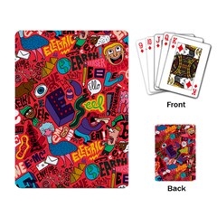 E Pattern Cartoons Playing Card