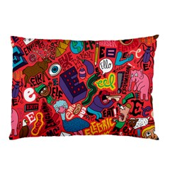 E Pattern Cartoons Pillow Case (two Sides)