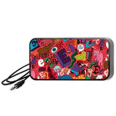 E Pattern Cartoons Portable Speaker (black)