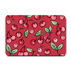 Cherry Cherries For Spring Small Doormat  by BubbSnugg