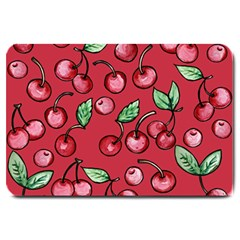 Cherry Cherries For Spring Large Doormat  by BubbSnugg