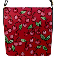 Cherry Cherries For Spring Flap Messenger Bag (s) by BubbSnugg
