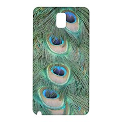 Peacock Feathers Macro Samsung Galaxy Note 3 N9005 Hardshell Back Case by GiftsbyNature