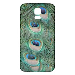 Peacock Feathers Macro Samsung Galaxy S5 Back Case (white) by GiftsbyNature