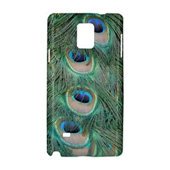 Peacock Feathers Macro Samsung Galaxy Note 4 Hardshell Case by GiftsbyNature
