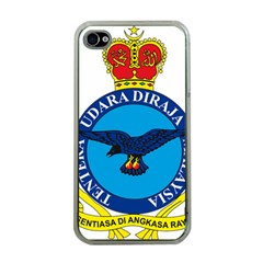 Crest Of Royal Malaysian Air Force Apple Iphone 4 Case (clear) by abbeyz71