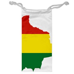Flag Map Of Bolivia Jewelry Bags by abbeyz71
