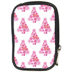 Pink Flamingo Santa Snowflake Tree  Compact Camera Cases by CrypticFragmentsColors