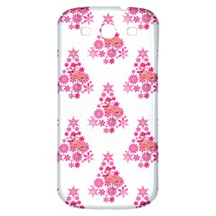Pink Flamingo Santa Snowflake Tree  Samsung Galaxy S3 S Iii Classic Hardshell Back Case by CrypticFragmentsColors