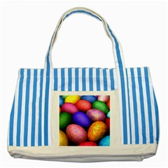 Easter Egg Striped Blue Tote Bag