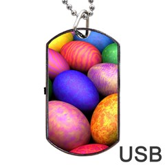 Easter Egg Dog Tag Usb Flash (one Side) by AnjaniArt