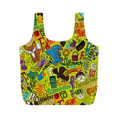 F Pattern Cartoons Full Print Recycle Bags (m)