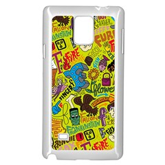 F Pattern Cartoons Samsung Galaxy Note 4 Case (white)