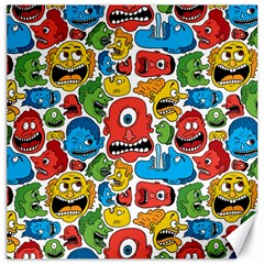 Face Creeps Cartoons Fun Canvas 16  X 16
