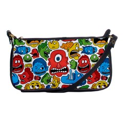 Face Creeps Cartoons Fun Shoulder Clutch Bags by AnjaniArt