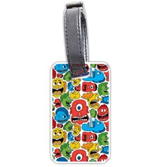 Face Creeps Cartoons Fun Luggage Tags (two Sides)