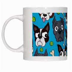 Face Dog And Bond White Mugs by AnjaniArt