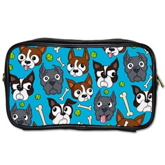 Face Dog And Bond Toiletries Bags 2 Side by AnjaniArt