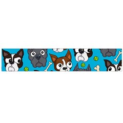 Face Dog And Bond Flano Scarf (large) by AnjaniArt