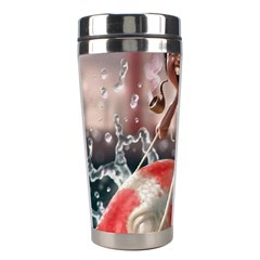 Funny Cartoon Fish Stainless Steel Travel Tumblers by AnjaniArt