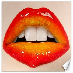 Glossy Lips Canvas 12  X 12