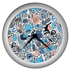 Gross Patten Now Wall Clocks (silver)  by AnjaniArt