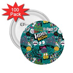 Haha Wow Pattern 2 25  Buttons (100 Pack)