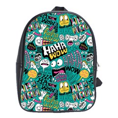 Haha Wow Pattern School Bags(large)