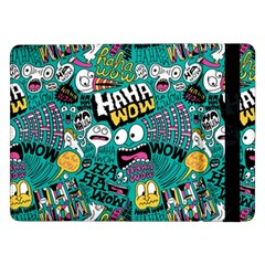 Haha Wow Pattern Samsung Galaxy Tab Pro 12 2  Flip Case by AnjaniArt