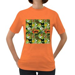 Halloween Pattern Women s Dark T Shirt by AnjaniArt